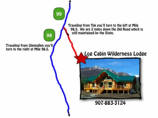 map to Log Cabin Wilderness Lodge